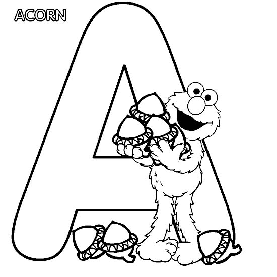 Alphabet For Preschool Coloring Pages title=