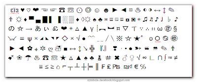 symbole et code facebook