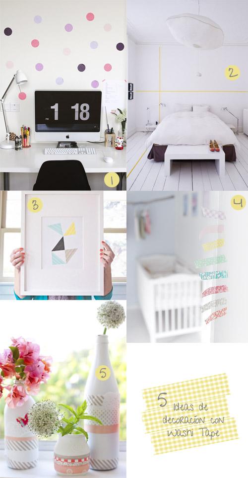 Diy 5 ideas de decoraci n con washi tape f cil y sencillo - Decoracion con washi tape ...
