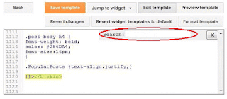 Blogger-code-finding