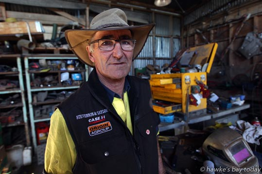Andy Lysaght, Agricultural Equipment Hire, pictured in his workshop, Omarunui, Hawke's Bay, has invented The Andweeder, for machine-weeding squash crops photograph