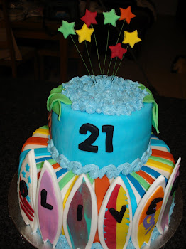 Surfboard Cake