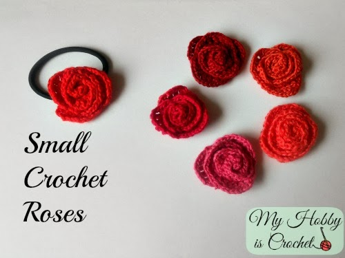 Small Rose Flower Crochet Pattern : My Hobby Is Crochet: Small Crochet Roses - Free Pattern
