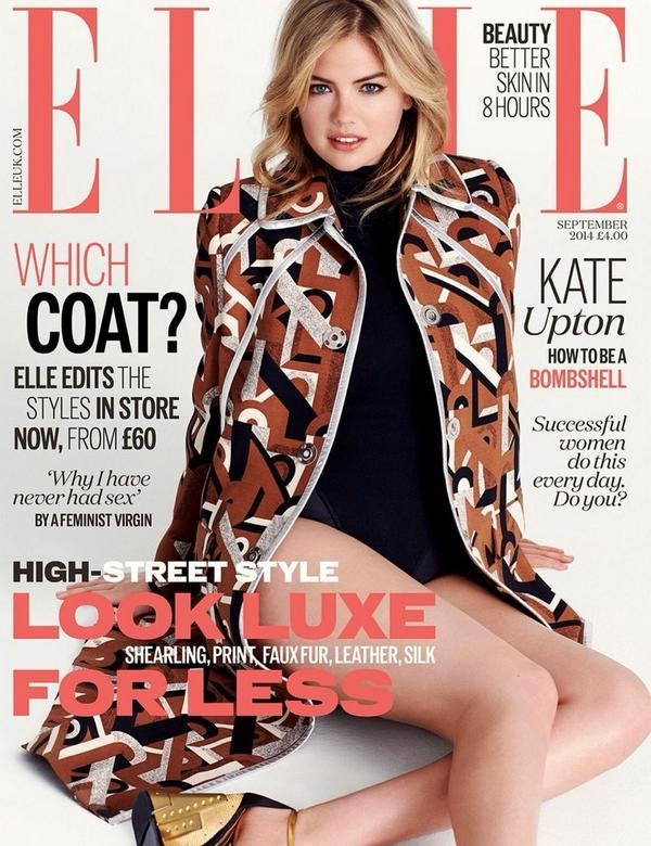 Kate Upton is the cover star of Elle UK September 2014