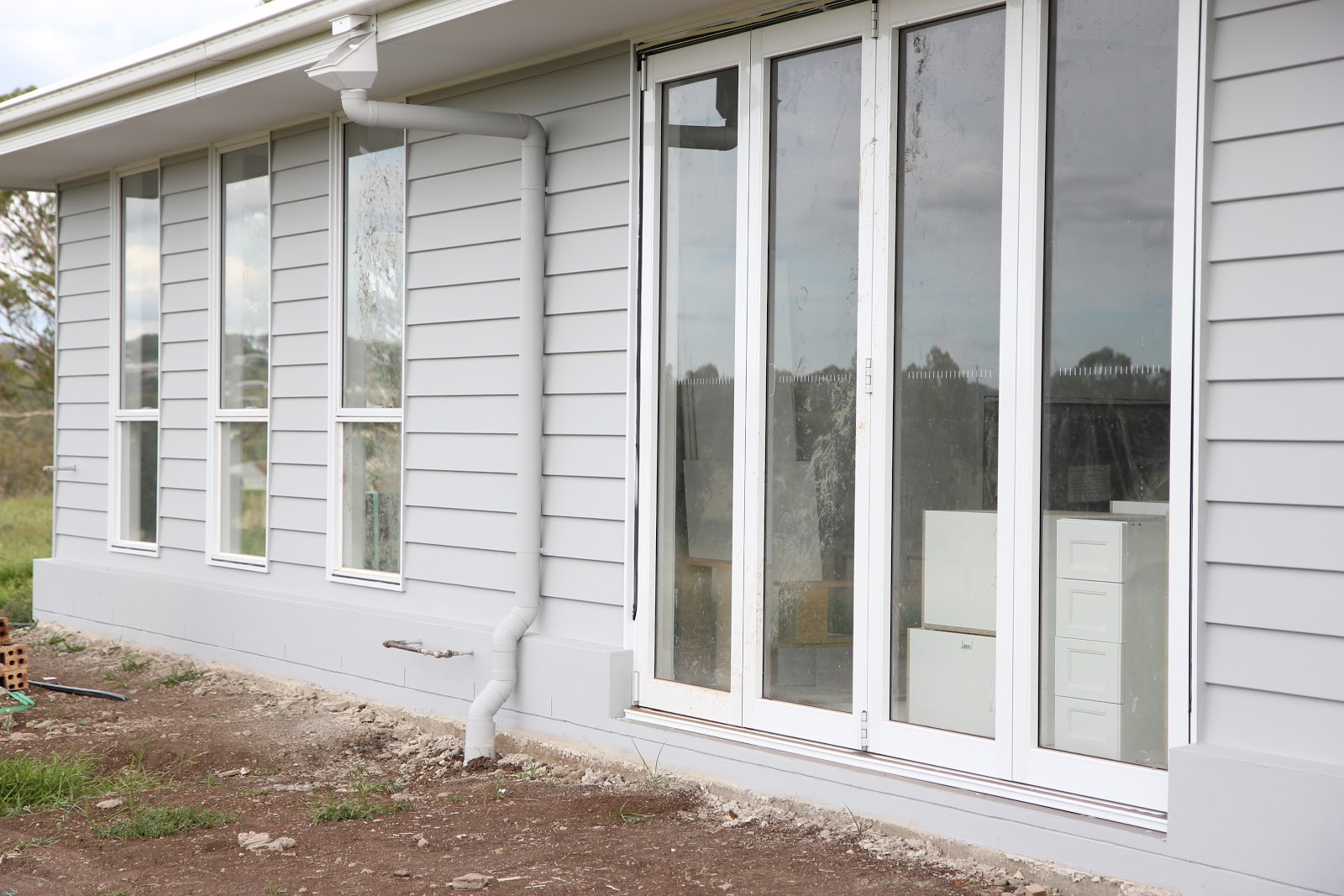 Building our house of grey and white paint pics - Exterior paint colours nz image ...