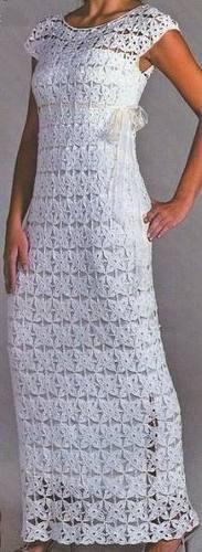 Como hacer vestidos a crochet para mujer