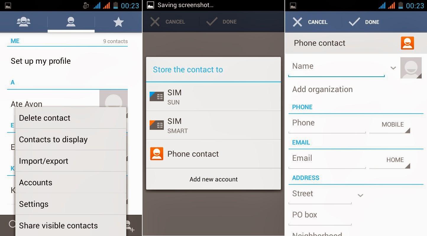 SKK Mobile Glimpse Contacts