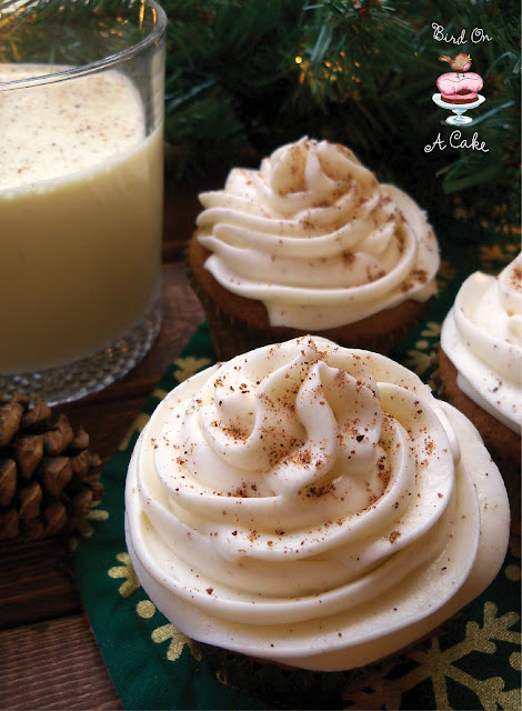 Eggnog Cupcakes with Nutmeg Frosting