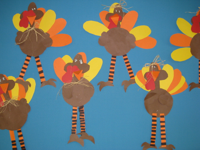 Smiling and shining in second grade turkey time for Turkey crafts for first grade