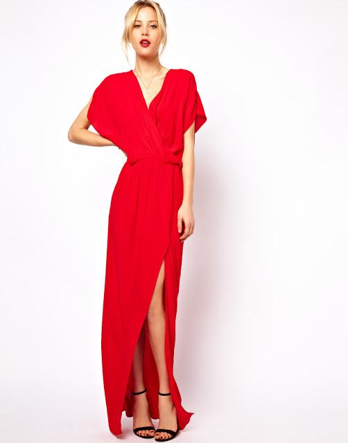 Vestido rojo largo asos
