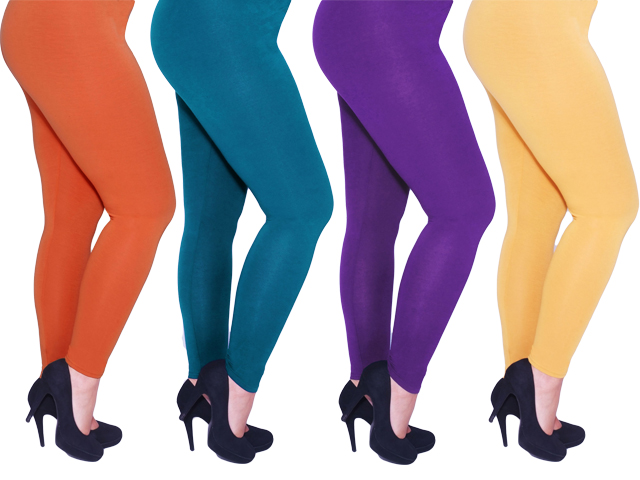 Purple Plus Size Leggings