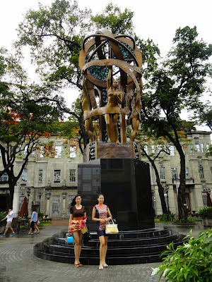 Trisha Sebastian and April Denise Belcher Homecoming in UST.
