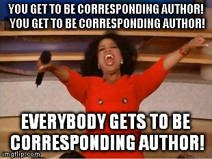 corresponding author research paper