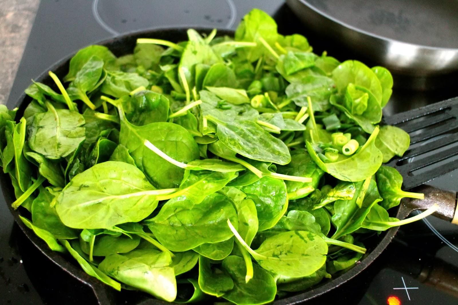 stuvet spinat uden fløde
