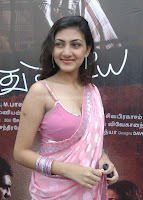Neelam in saree showing cleavage stills