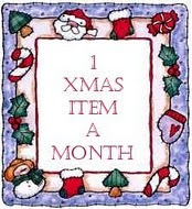 One Xmas Item a Month