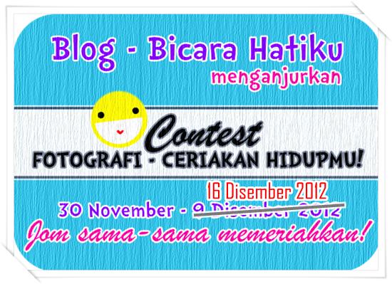 Jom Join Contest : Fotografi - Ceriakan Hidupmu!