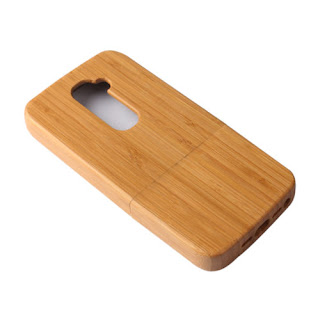 For LG G2 D802 Natural Phone Case Wood Genuine Bamboo Wooden Rugged Back Cover