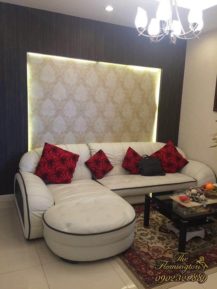 Cho thuê căn hộ Flemington giá rẻ diện tích 116m2 | Phòng khách