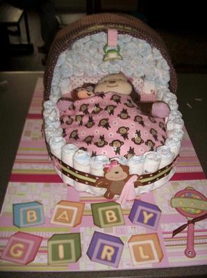 Baby diapering diaper cakes ebay baby carriage bassinet diaper cake