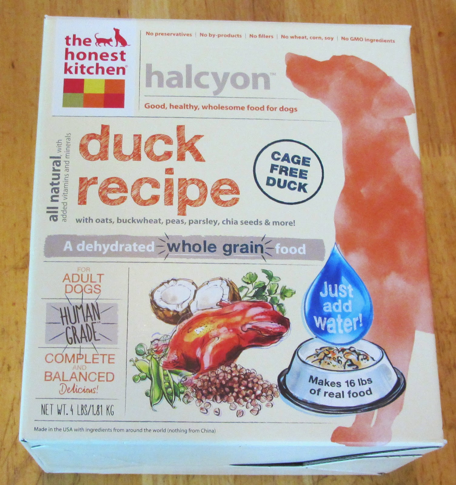 His Muddy Paw Prints Honest Kitchen Halcyon Duck Recipe Review