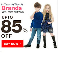 Amazon : Buy International Brands Kids Clothing upto 65% off from Rs. 105 only – BuyToEarn