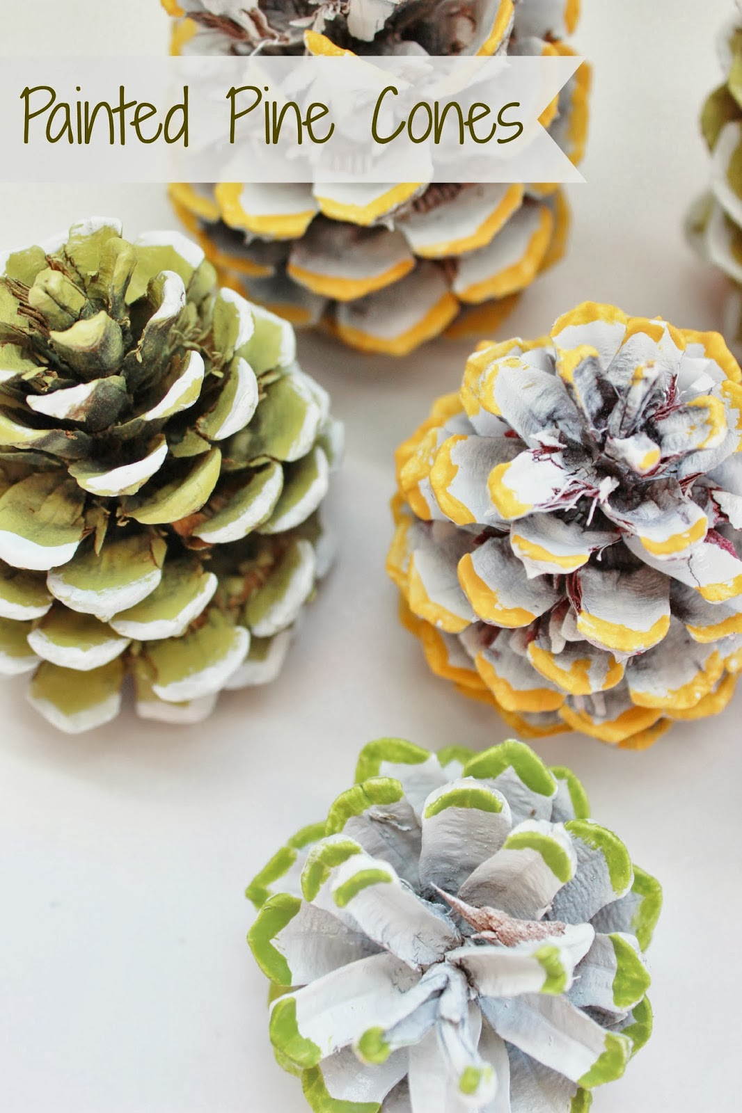Painted pine cones delightfully noted for Small pine cone crafts