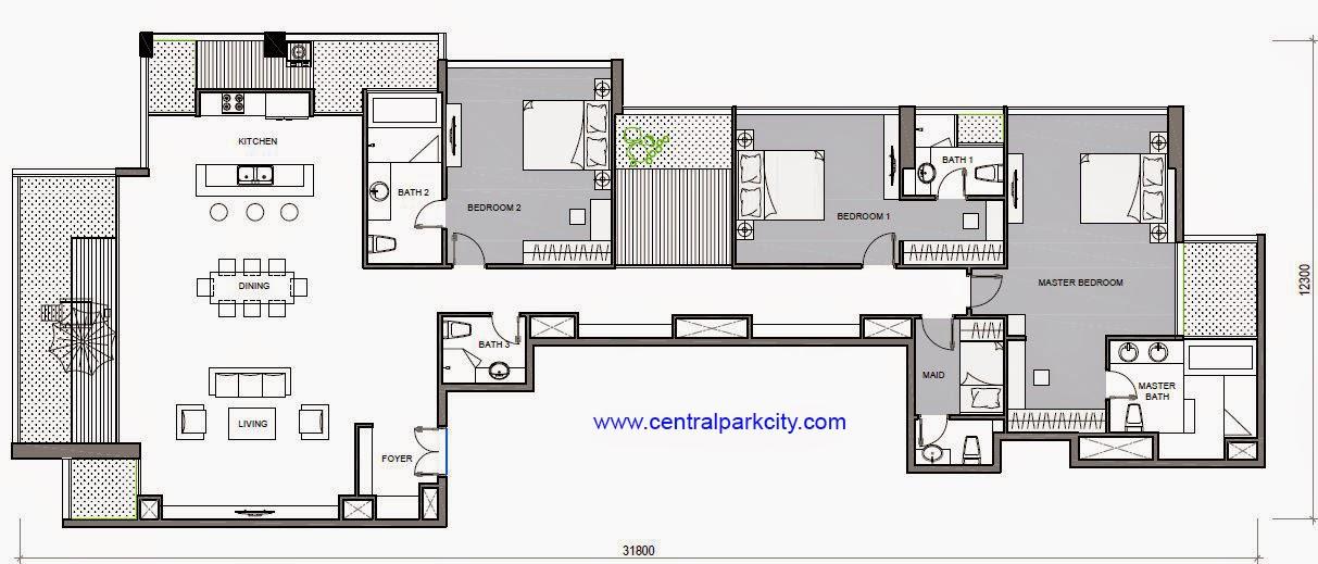 Vinhomes Central Park Penthouse - Căn Penthouse Vinhomes số 06 tầng 37 - 3PN - 277.5m2