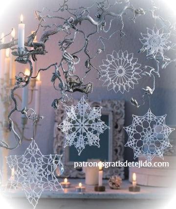 cristales de nieve crochet patrones y video tutorial