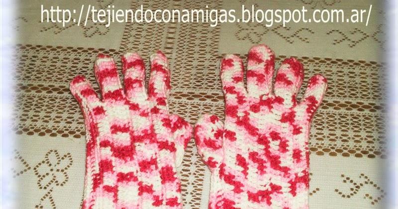 Tejiendo con Amigas: Guantes a crochet paso a paso