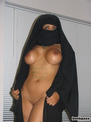 Muslim Girl Nude with AK-47