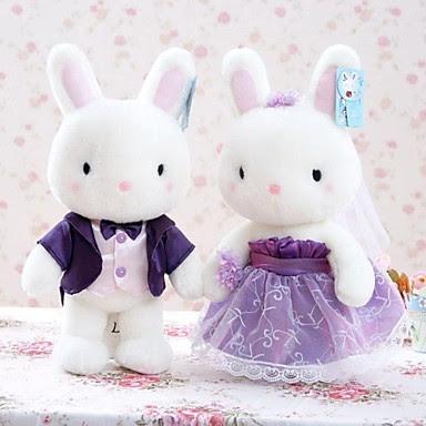 Pareja de Novios Conejos de Peluche