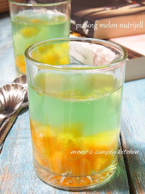 resep mudah puding melon nutrijel