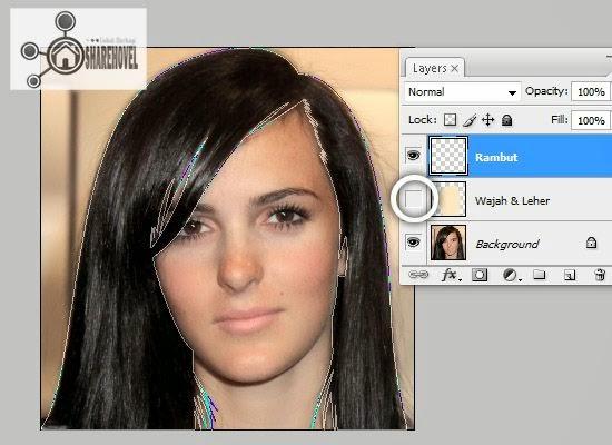 membuat pola vector rambut menggunakan pen tool - tutorial membuat vector di photoshop - membuat foto menjadi kartun dengan photoshop
