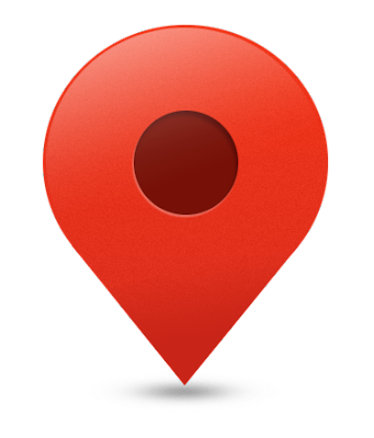 Map pin vector drawing icon.