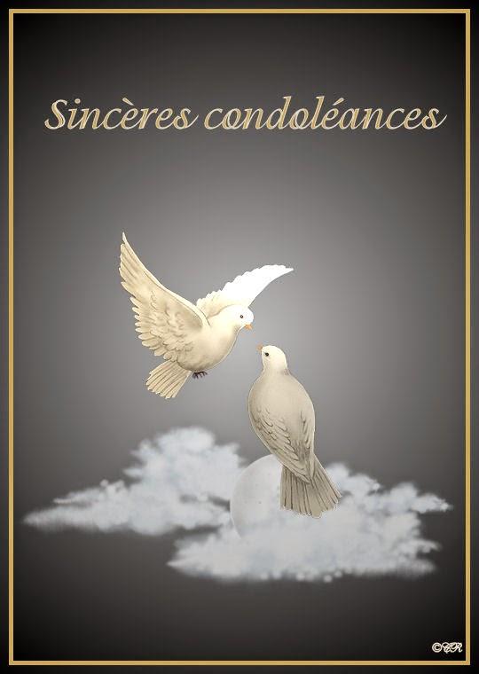 Résultat d'images pour sincères condoléances modèles