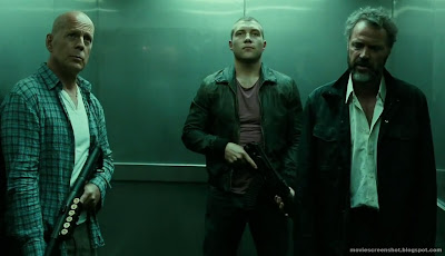 Bruce Willis, Jai Courtney, Sebastian Koch in A Good Day to Die Hard movie image