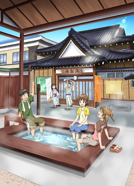 湯田川温泉のイラスト