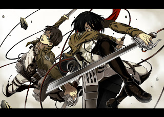 Attack on Titan Shingeki no Kyojin Mikasa Ackerman Eren Jaeger Anime Sword HD Wallpaper Desktop Background