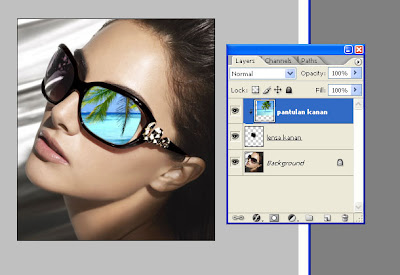 Efek Pantulan Kacamata dengan Photoshop