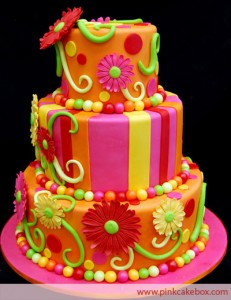 color filled cakes