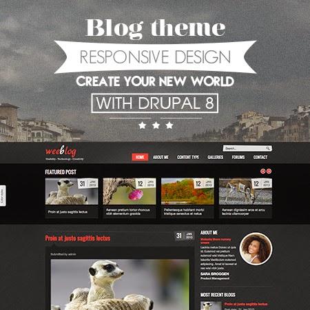 Personal Blog - Free Drupal Theme