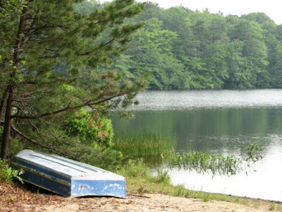 Cliff Pond and Boat at Nickerson State Park