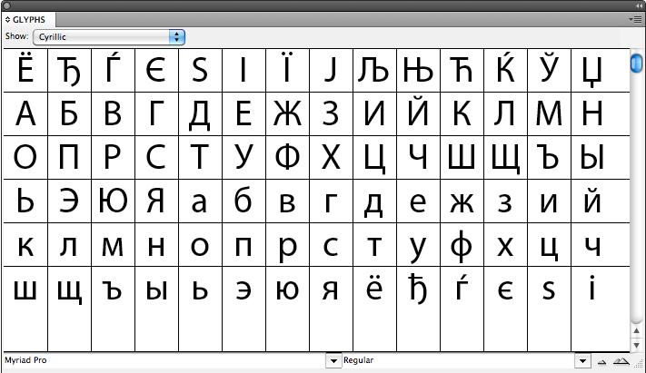 myriad pro font