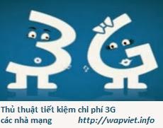 Cách tiết kiệm chi phí 3G