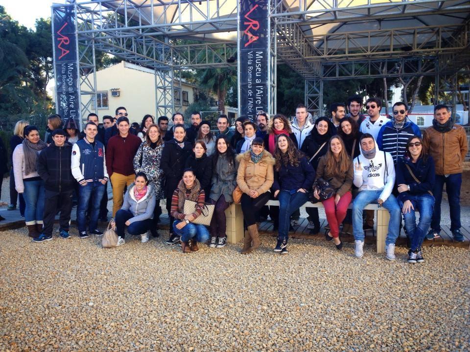 Alumnos de turismo del Ies Mediterrania