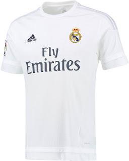 enkosa sport toko online baju bola terpercaya Jersey terbaru Real Madrid home Official musim 2015/2016