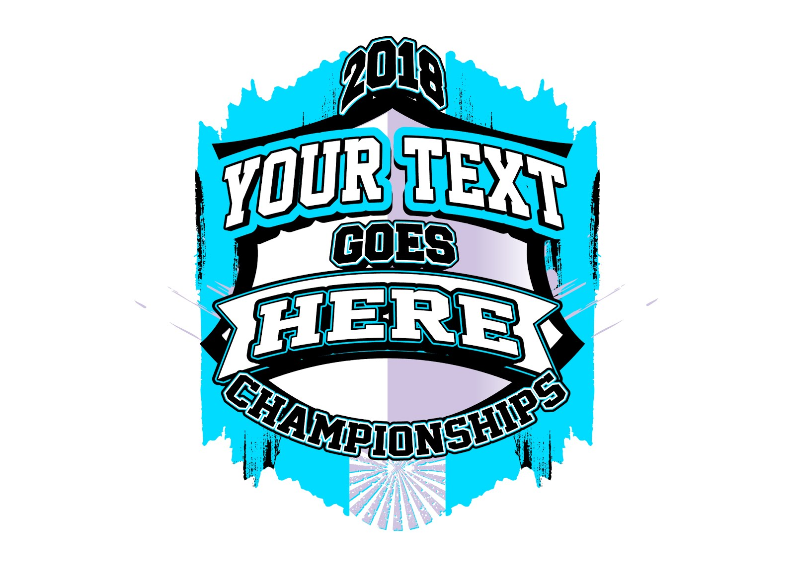 CHAMPIONSHIPS - FULLY CUSTOMIZABLE VECTOR LOGO DESIGN, ADJUSTABLE TEXT AND COLOR