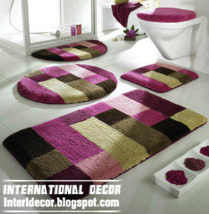 Designer bathroom rugs and mats