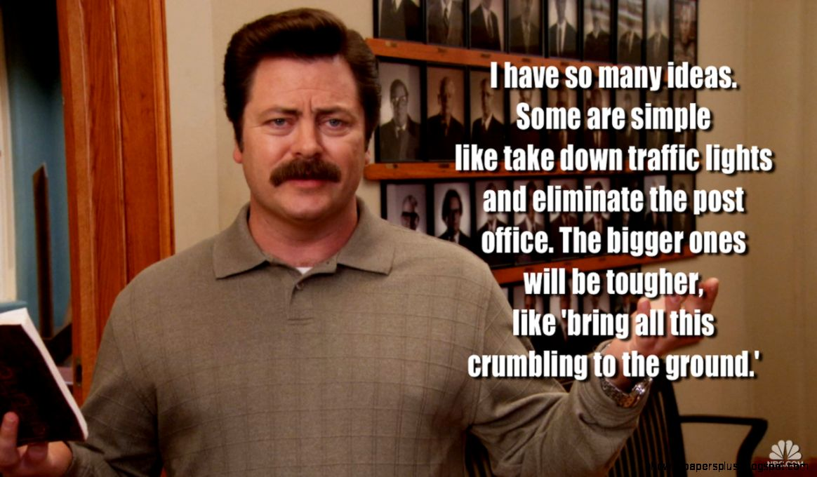 Ron Swanson About Government Quotes   Quotes Like